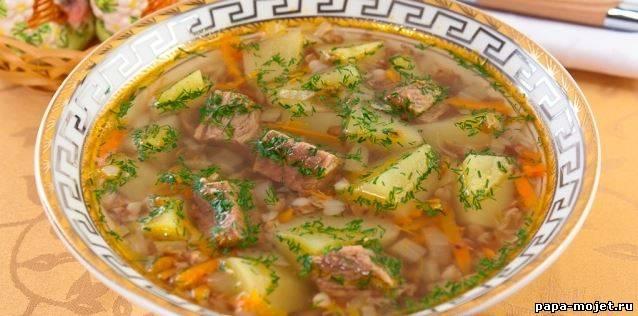 суп с гречкой рецепт с фото