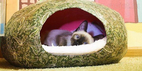 Домик для кошки своими руками фото пошаговое